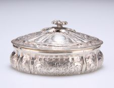 A GERMAN SILVER JEWEL BOX AND COVER