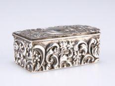 AN EDWARD VII SILVER RING BOX