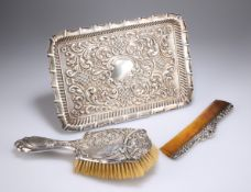 A GROUP OF SILVER DRESSING TABLE ARTICLES