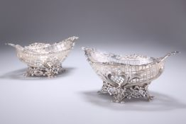 A PAIR OF VICTORIAN SILVER DISHES