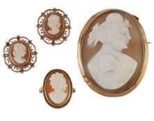 A GROUP OF CAMEO JEWELLERY