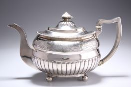 A GEORGE III PROVINCIAL SILVER TEAPOT