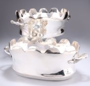 A PAIR OF FRENCH SILVER-PLATED MONTEITHS