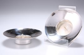A PAIR OF ELIZABETH II SILVER CANDLE HOLDERS