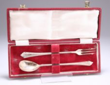 A PAIR OF GEORGE VI SILVER PICKLE FORKS