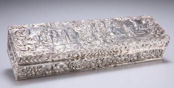 A DUTCH SILVER BOX, 19TH CENTURY