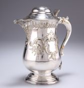 A 19TH CENTURY SILVER-PLATED FLAGON