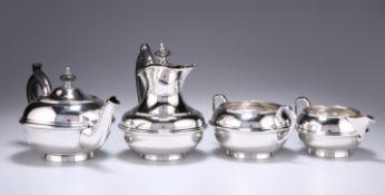 A SILVER FOUR-PIECE BACHELOR'S TEA SERVICE