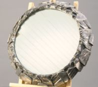 A 19TH CENTURY SILVER-PLATED MIRRORED PLATEAU