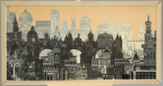 20TH CENTURY SCHOOL, CITYSCAPE, POSSIBLY BUDAPEST