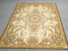 A FRENCH STYLE AUBUSSON CARPET