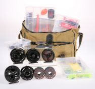 A QUANTITY OF FLY FISHING REELS