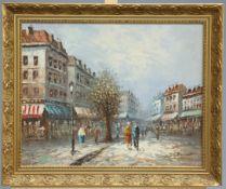 CAROLINE BURNETT (AMERICAN, 1877-1950), PARISIAN STREET SCENE