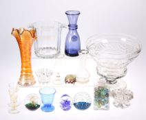 A COLLECTION OF GLASS