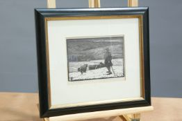 A GROUP OF SEVEN FRAMED ARTICLES