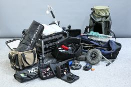 A LARGE QUANTITY OF SEA FISHING AND MATCH FISHING ACCESSORIES