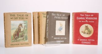 FIVE BEATRIX POTTER BOOKS