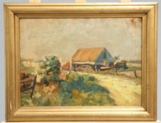 CONTINENTAL SCHOOL, COTTAGE IN A LANDSCAPE