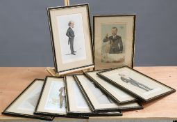 EIGHT VANITY FAIR 'MEN OF THE DAY' (SPY) CARICATURE LITHOGRAPHS