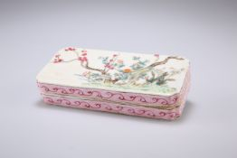 A CHINESE FAMILLE ROSE INK BOX