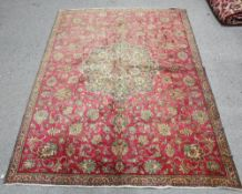 A TABRIZ CARPET AND A PERSIAN MALYER RUNNER