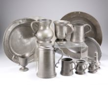 A COLLECTION OF PEWTER