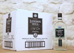 12 BOTTLES CASE 'THE ORIGINAL' LONDON HILL LONDON DRY GIN