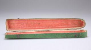 A LATE 18TH CENTURY GREEN FAN BOX