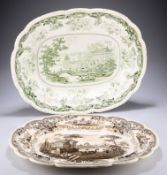 """AN OPAQUE CHINA """"CHINESE MARINE"""" MEAT DISH"""