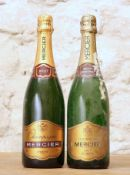 2 BOTTLES CHAMPAGNE MERCIER BRUT VN FROM 1970'S (ONE EARLY 1970'S AND ONE LATE 1970'S)