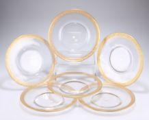 A SET OF SIX SAINT LOUIS GLASS PLATES