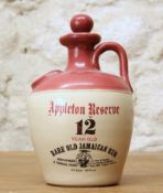 1 4/5 QUART CROCK BOTTLE FROM 1960'S WRAY AND NEPHEW APPLETON RESERVE 12 YEAR OLD 'AGED IN WOOD' JAM
