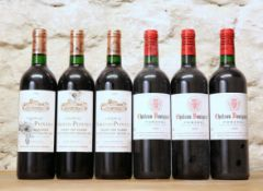 6 BOTTLES MIXED LOT FINE MATURE CLASSIFIED ST EMILION AND POMEROL
