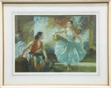 SIR WILLIAM RUSSELL FLINT (1880-1969), EVE AND JASMIN AND THE UNFINISHED PICTURE