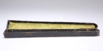 A LATE 18TH CENTURY BLACK FAN BOX