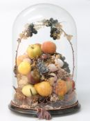 A MID 19TH CENTURY FRENCH WAX AND PAPER FRUIT DISPLAY