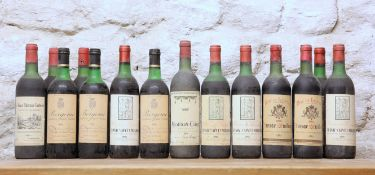 14 BOTTLES MIXED LOT MATURE FINE CLARET TO INCLUDE MOUTON CADET 1975 COMPRISING
