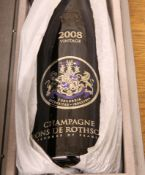 1 BOTTLE CHAMPAGNE BARONS DE ROTHSCHILD VINTAGE 2008 (PRESENTATION CASKET)