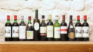 12 BOTTLES MIXED LOT OF INTERESTING MATURE CELLAR CLEARANCE WINES TO INCLUDE CLARET COMPRISING