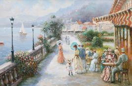 FRENCH SCHOOL, FIGURES BY THE WATERSIDE