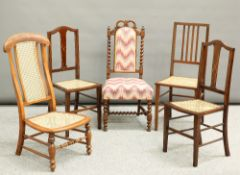 A GROUP OF VICTORIAN AND LATER CHAIRS