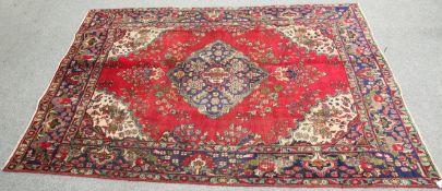 A VINTAGE PERSIAN TABRIZ CARPET