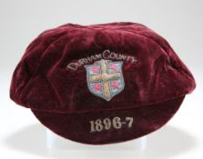 A COUNTY (RUGBY ?) CAP FOR THE SEASON 1896-7,
