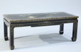 A CHINOISERIE LACQUER COFFEE TABLE