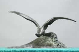 AFTER MAXIMILIEN LOUIS FIOT (1886-1953), BRONZE OF A SEAGULL
