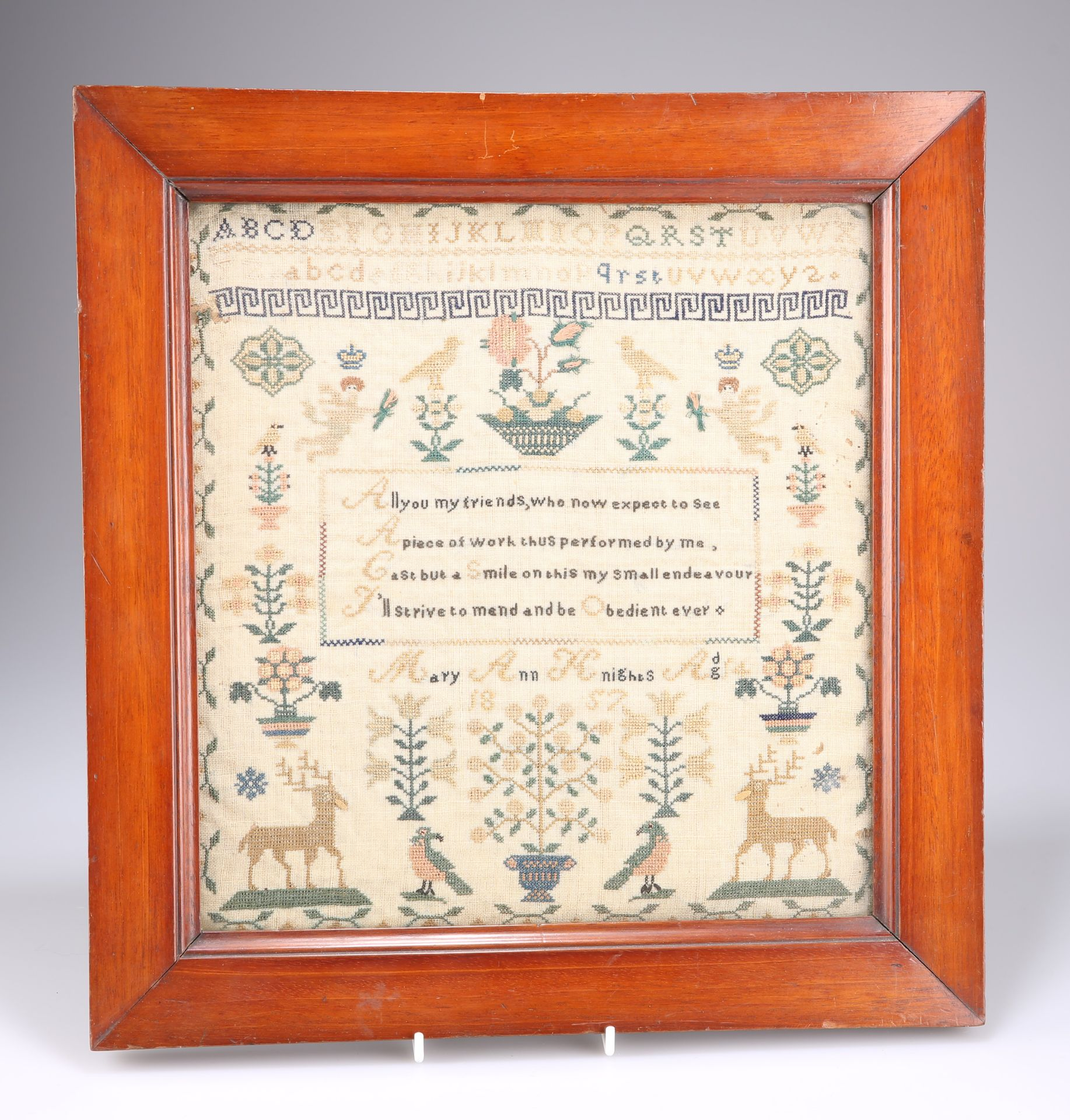 A 19TH CENTURY ALPHABET AND VERSE SAMPLER - Image 2 of 2