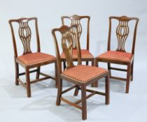 A SET OF FOUR GEORGE III STYLE MAHOGANY DINING CHA