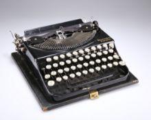 AN EARLY 20TH CENTURY REMINGTON PORTABLE TYPEWRITE