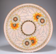 A LARGE CROWN DUCAL POTTERY CHARGER, DESIGNED BY CHARLOTTE RHEAD