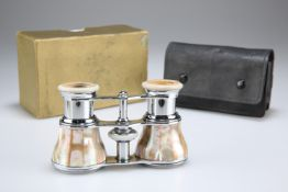 A PAIR OF MOTHER-OF-PEARL MOUNTED OPERA GLASSES